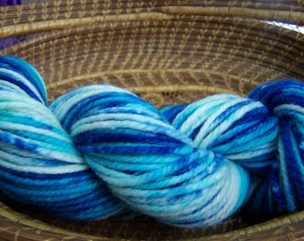 Water Caricature Hand Dyed Bulky Weight Yarn