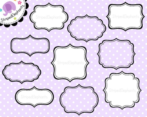 Fancy Frames 1 - Clipart Frames Journaling Spots - Instant Download - Commercial Use