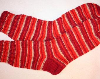 29 cm /// 11,5 inches Hand Knitted Socks - Unisex - US Men 12 /// US Women 13 /// EU 45-46