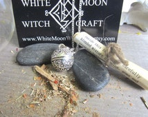 Wiccan jewelry success spell pendant amulet prayer box necklace locket secret compartment pagan wicca metaphysics new age medieval herbs