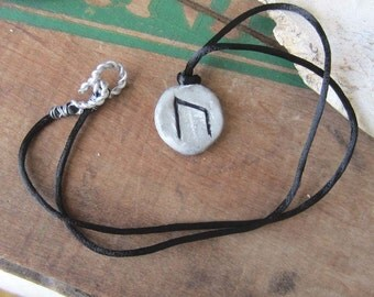 viking rune necklace URUZ runes pendant elder futhark wicca wiccan jewelry pagan witchy occult