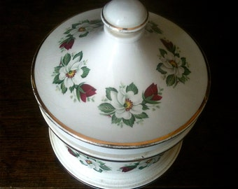 Vintage English Lidded Jar Pot circa 1960's / English Shop