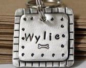 Custom Dog ID tag- mixed metal for dogs and cats- Stubby