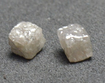 3.25 to 3.60mm 1.065 carat pair of 'Congo cube'  silver grey cube diamonds - CONFLICT FREE