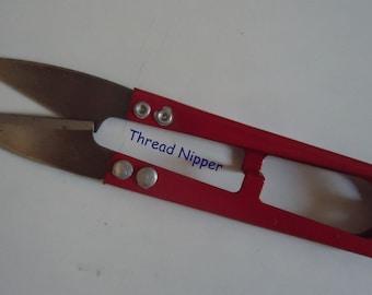 Thread Nipper - Thread Trimmer - Black or Red- Thread Cutting Scissors