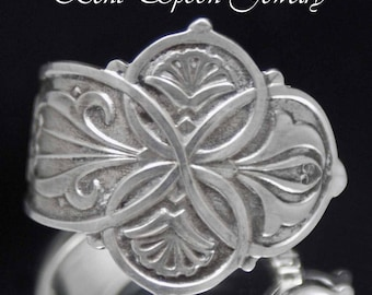 Sterling Spoon Ring, Unisex Spoon Ring size 10, Sterling Silver, Silverware Jewelry SS87