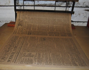 Newspaper Wrapping Paper - Gift Wrap - Kraft Wrap