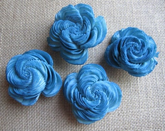 Sola Shell Flowers  -- SET of 12 -- blue