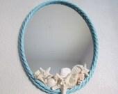 Mirror/Vanity Tray with Seashells