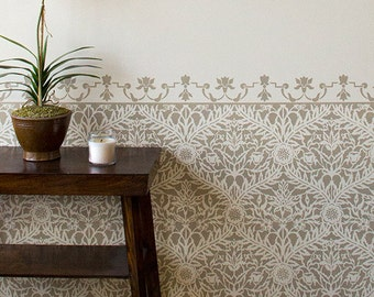 Moroccan Mughal Trellis Stencil for Wall Stenciling and DIY Decor
