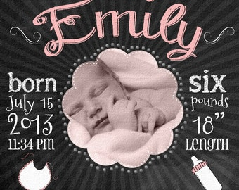 Newborn Baby Canvas - 16x20 Custom Art