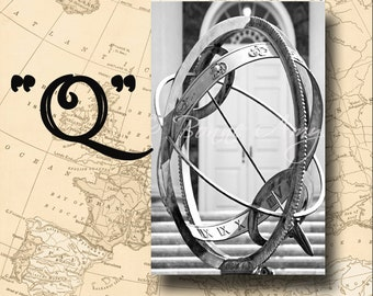 Letter Q Alphabet Photography Black and White or Sepia 4 x 6 Photo Letter Unframed