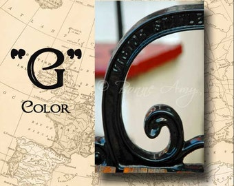Letter G Alphabet Photography Color 4 x 6 Photo Letter Unframed