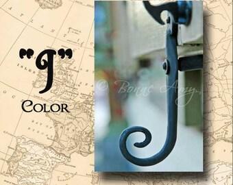 Letter J Alphabet Photography Color 4 x 6 Photo Letter Unframed