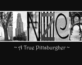 YINZER Alphabet Photography Letter Art  - Pittsburghese (various sizes)