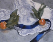 Gooseberries and Lace - Original Oil Painting