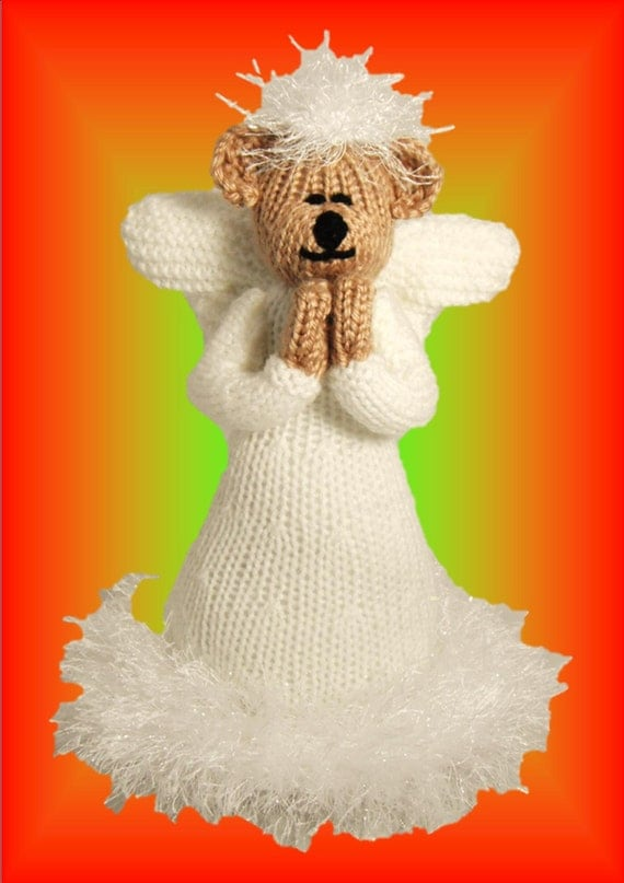 Angel Bear a unique knitting pattern by Lynne Coles