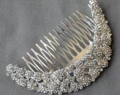 Bridal Headpiece Tiara Headband Rhinestone Hair Comb Accessory Wedding Jewelry Crystal Flower Side Tiara CM087LX