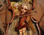 ON SALE  Violinne OOAK custom art doll by Sally's Song Dolls (free shipping worlwide)