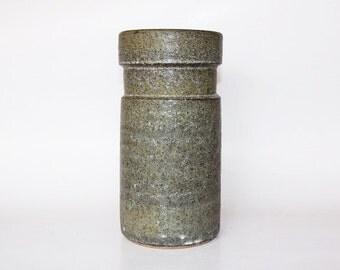 Vintage XL Modernist Green Dutch Pottery Vase -  Lore Beesel 60s
