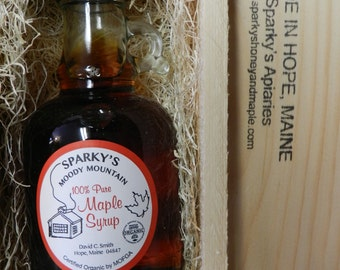 250ml Certified Organic Maine Maple Syrup Gift Box