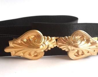 Elastic Belt - Waist Belt - Bridesmaid Belt - Gold Belt - Bridesmaid Accessories - Bridesmaid Sash - Skinny Belt - Stretch Belt