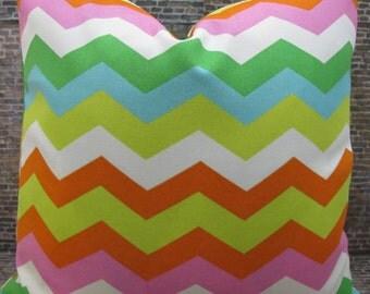 SALE Designer Pillow Cover - Lumbar, 16 x 16, 18 x 18, 20 x 20, 22 x 22 - Outdoor Panama Wave Mimosa