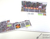 MiNi City Driven by design card (a city can be put in the envelope.)