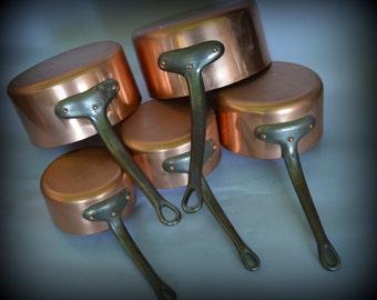 French copper pots pans cuisine professional casseroles en cuivre chef