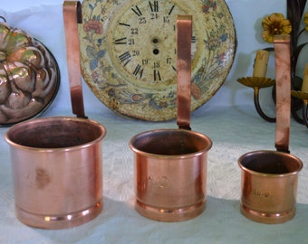 French  copper measures cuisine professional  cuivre