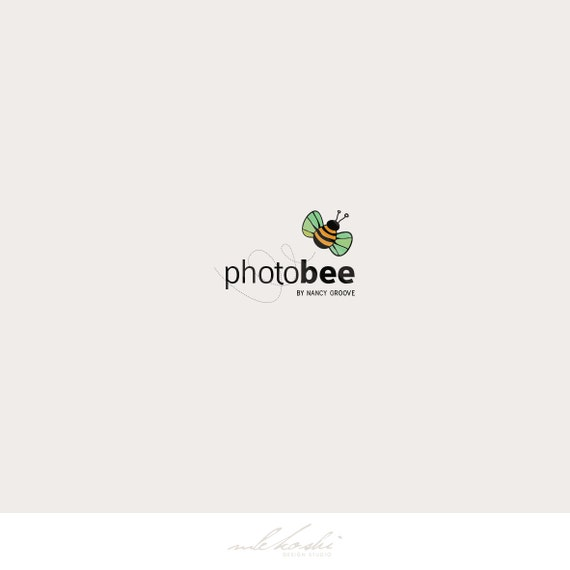 Premade Photography Logo - Photo Branding, Premade Logo Design for Photographer Kids Clothes Boutique Logo, Kids Logotype - Bee