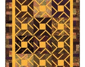 Quilt Pattern - Serengeti - PDF INSTANT DOWNLOAD - Great for exotic fabrics