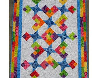 Quilt Pattern - Star Struck - Adorable Baby Quilt! Super Easy! PDF INSTANT DOWNLOAD