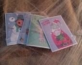 Creepy Christmas Greeting Cards 4 Pack