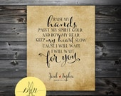 Original Personalized Wedding Gift, Mumford & Sons Typography, Valentine's Gift - Personalized Art Print, Personalized Wedding Gift Wall Art