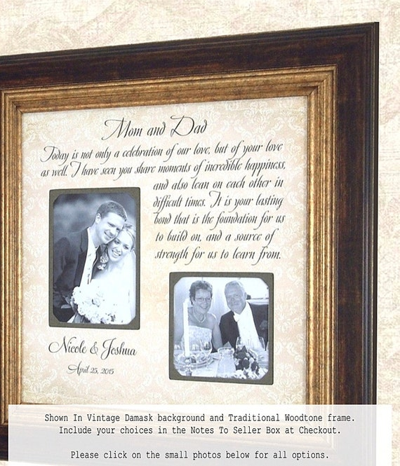Parents Of The Groom Frame: Parents Of The Groom Gift Wedding Frame MOM By