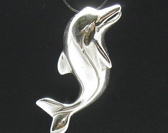 PE000135 Sterling silver pendant  925 Dolphin charm