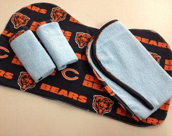 Chicago Bears Burp-Wash Cloth Set_Blue