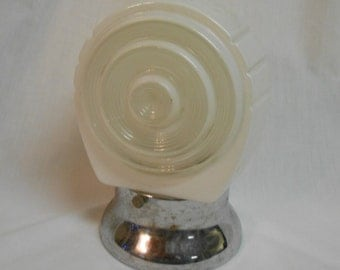 Vintage porch light with pull chain art deco Bakelite plug receptacle Leviton shabby architectural salvage shabby porch light vintage light