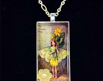 Fairy Resin Pendant - Yellow