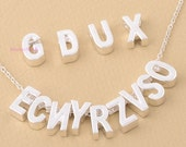 Clearance-100 pcs random mixed from A TO Z- alphabet charms-F1058-fit through chains