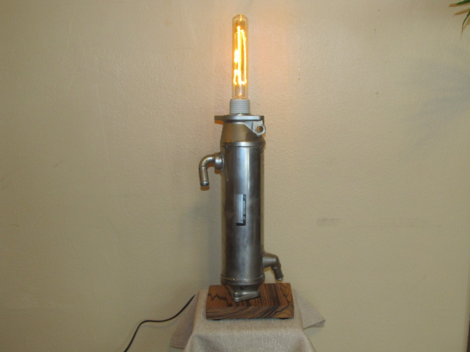 Auto Part Found Object Lamp With Vintage Style Light Bulb steampunk buy now online