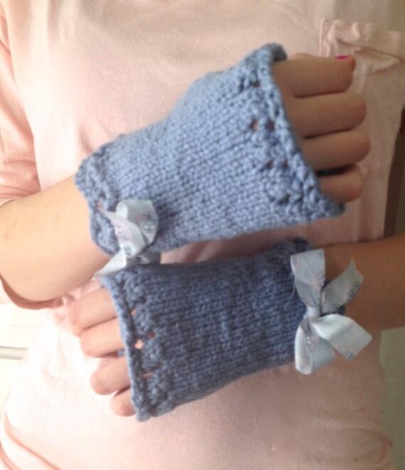 Periwinkle Organic Cotton Wrist Warmers