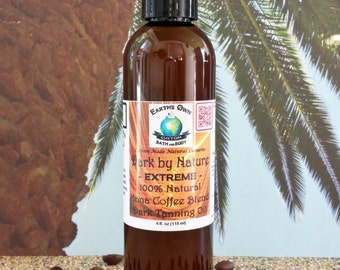 2 oz 100% Natural Extreme Tanning OIL w/ Kona Coffee Extract. Unique blend. No Mineral Oil. L Tyrosine. Vegan. Gluten Free.Trial/Travel Size