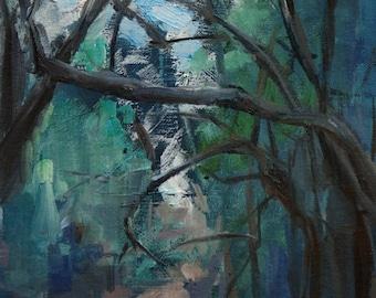 Original Oil Painting - Forest- Landscape-Woods -Painterly- 8 x 10 inches - Florida Landscape