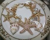 Shell Bracelet - Sea Shell Bracelet - Beach Wedding - Destination Wedding - Beach Bracelet - Starfish Bracelet - Starfish Jewelry - Starfish
