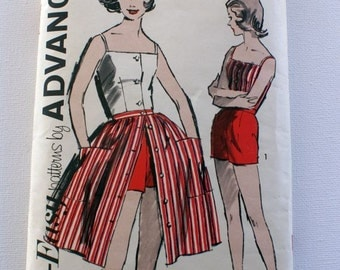 Vintage Advance Skirt, top and shorts Pattern 2824