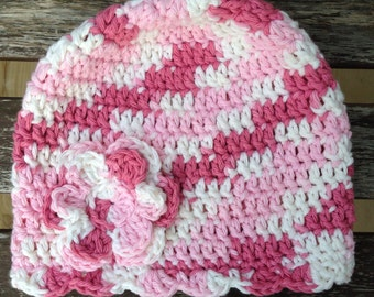 SALE Toddler Crochet Flower Hat - Ready to Ship