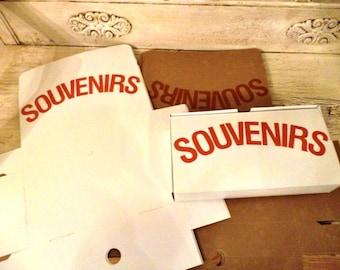 Vintage Souvenir Boxes - 14 Cardboard Souvenir Boxes - Great for Party Favors