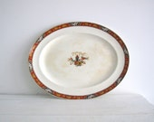 Vintage Ceramic Plate - Asian Design by Alfredo Meakin of England
